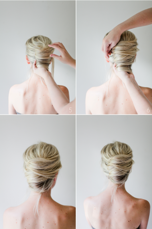 Picture Of glamorous diy messy french twist hairstyle  3