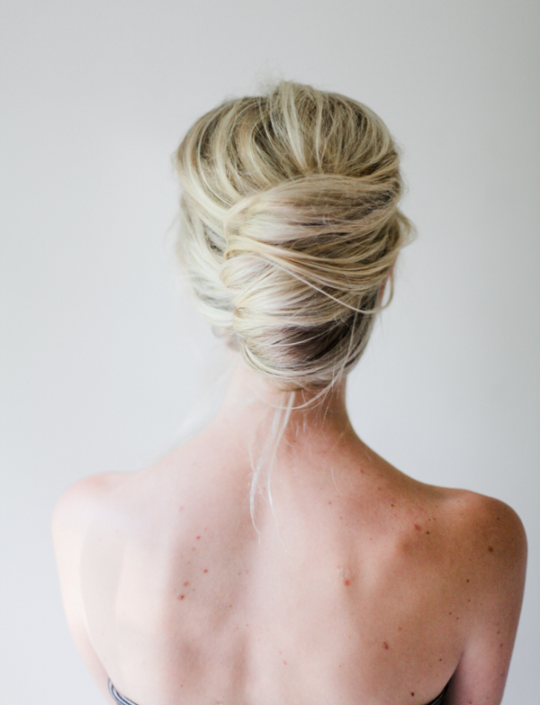 Picture Of glamorous diy messy french twist hairstyle  4