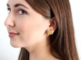 glittery-gold-90s-inspired-diy-thunderbolt-earrings-to-make-2