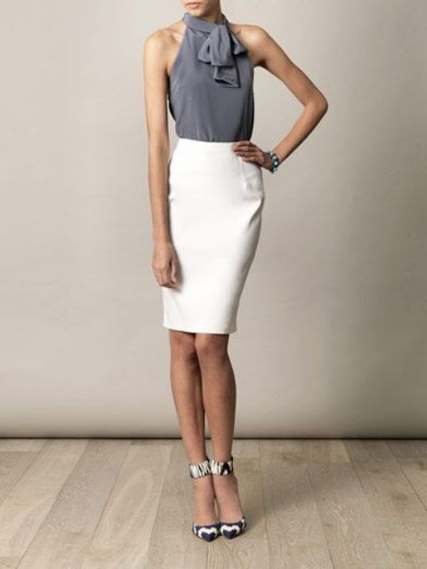 Picture Of gorgeous and girlish pencil skirt outfits for work  14