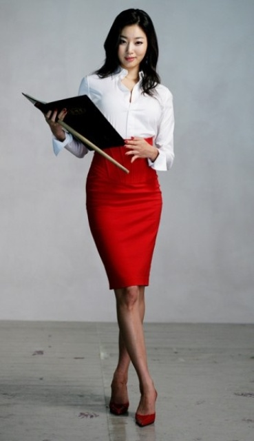 24 Gorgeous And Girlish Pencil Skirt Outfits For Work - Styleoholic