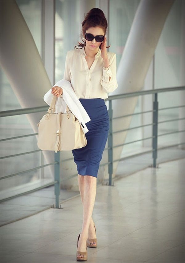 Picture Of gorgeous and girlish pencil skirt outfits for work  9