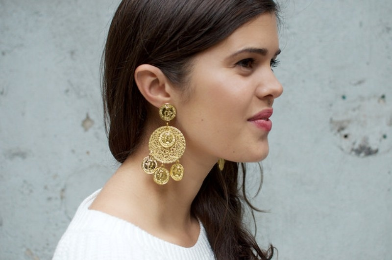 Picture Of gorgeous diy dolcegabbana inspired coin earrings  1