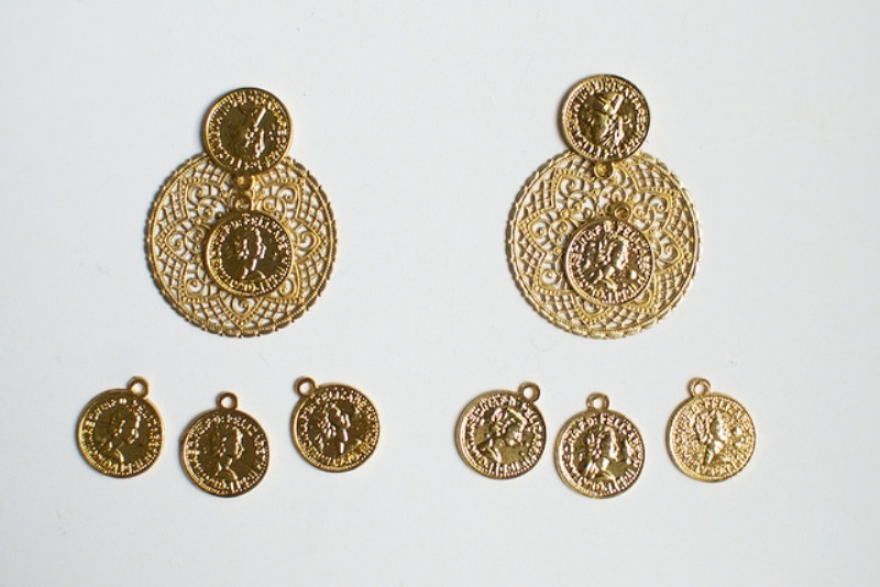 Picture Of gorgeous diy dolcegabbana inspired coin earrings  3
