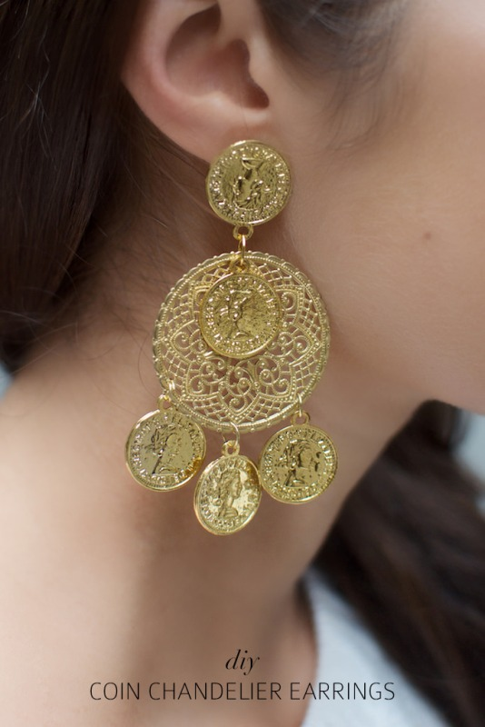 Picture Of gorgeous diy dolcegabbana inspired coin earrings  8