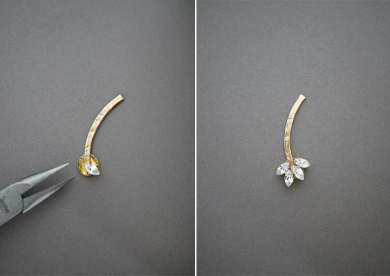 Picture Of gorgeous diy ear cuff with swarovski rhinestones  5