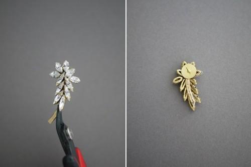 Gorgeous DIY Ear Cuff With Swarovski Rhinestones