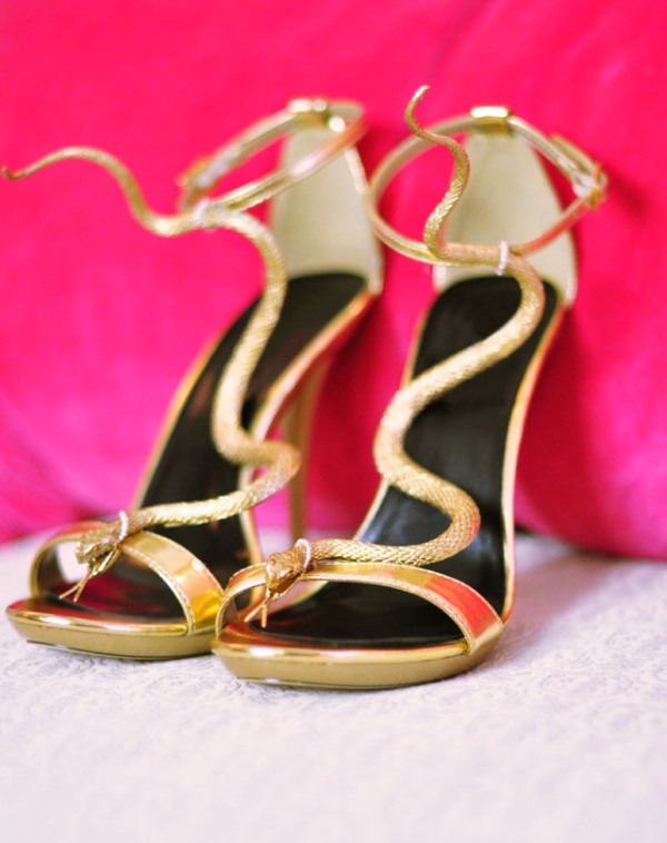 Picture Of gorgeous diy gold snake sandals inspired by guiseppe zanotti  2