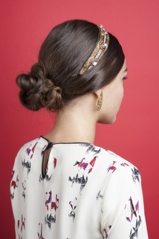 Picture Of gorgeous diy hairstyle with dg inspired headband  7