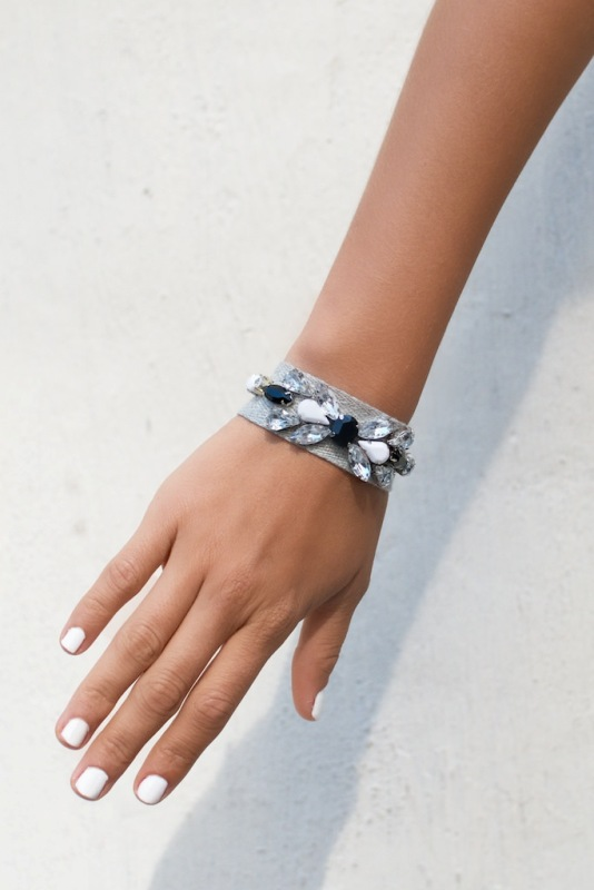 Picture Of gorgeous diy jeweled ribbon bracelets  1
