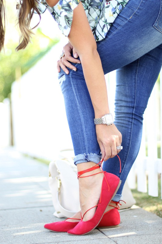 Picture Of gorgeous diy lace up ballet flats to make  1