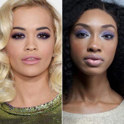 Gorgeous DIY Rita Ora's Shimmering Purple Makeup To Recreate