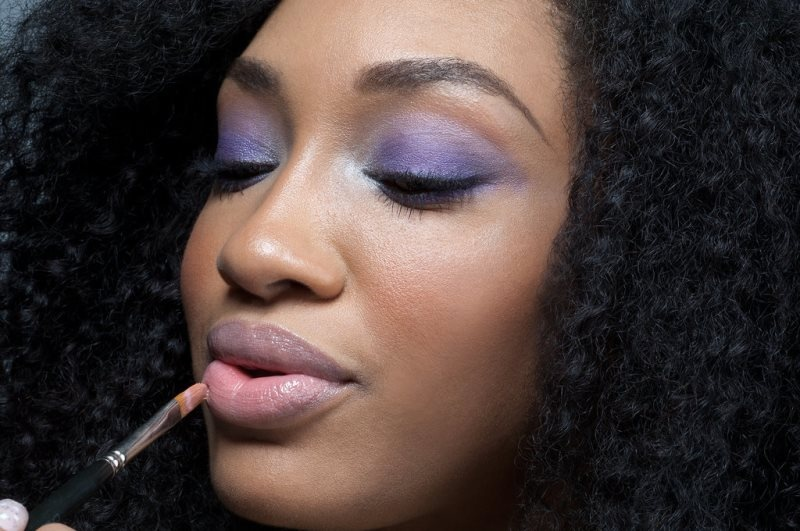 Picture Of gorgeous diy rita oras shimmering purple makeup to recreate  3
