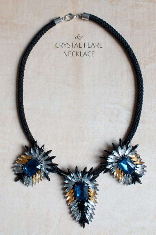 Gorgeous DIY Statement Crystal Flare Necklace
