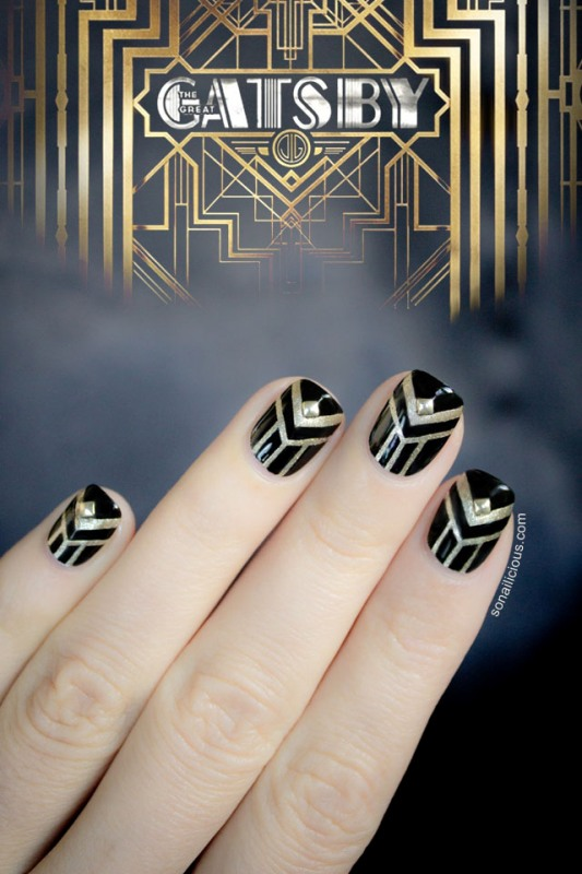 Picture Of gorgeous diy the great gatsby inspired nails  1