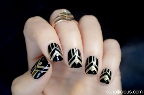 Gorgeous DIY The Great Gatsby Inspired Nails