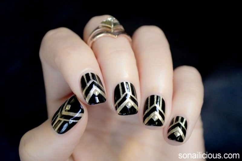 Picture Of gorgeous diy the great gatsby inspired nails  2