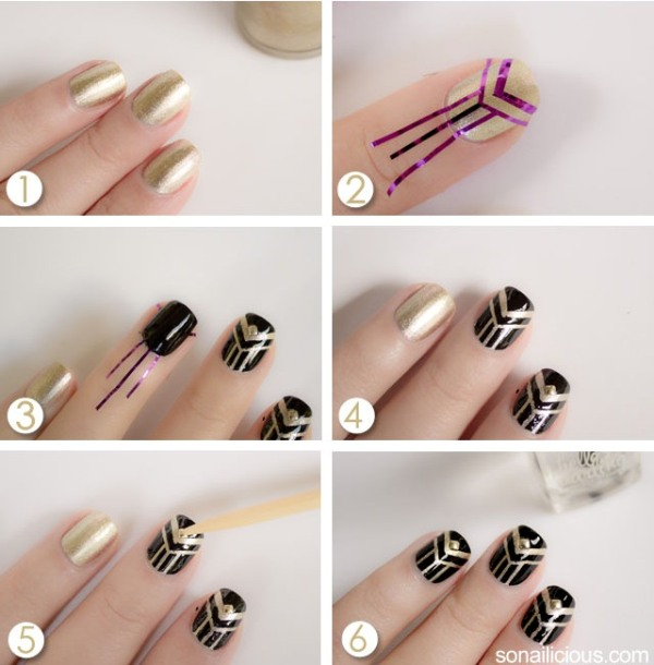Picture Of gorgeous diy the great gatsby inspired nails  3