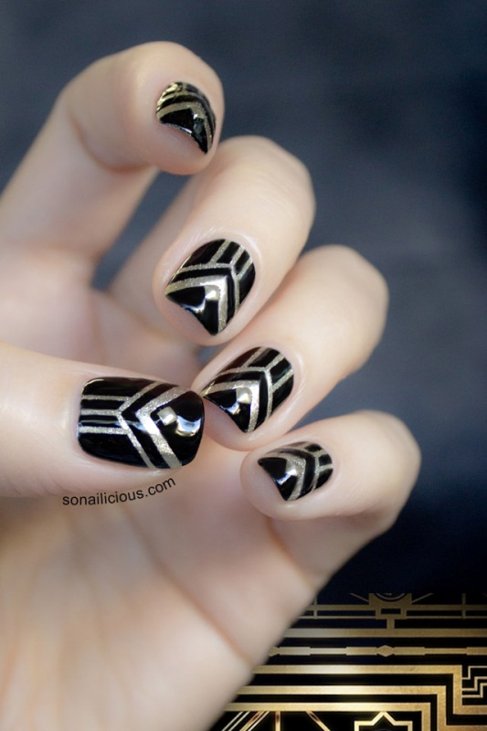Picture Of gorgeous diy the great gatsby inspired nails  4