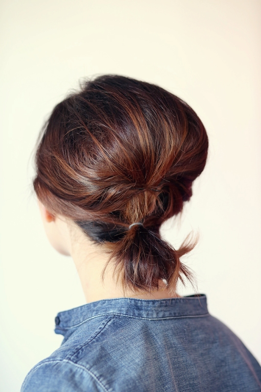 Picture Of gorgeous diy voluminized ponytail for short hair  2