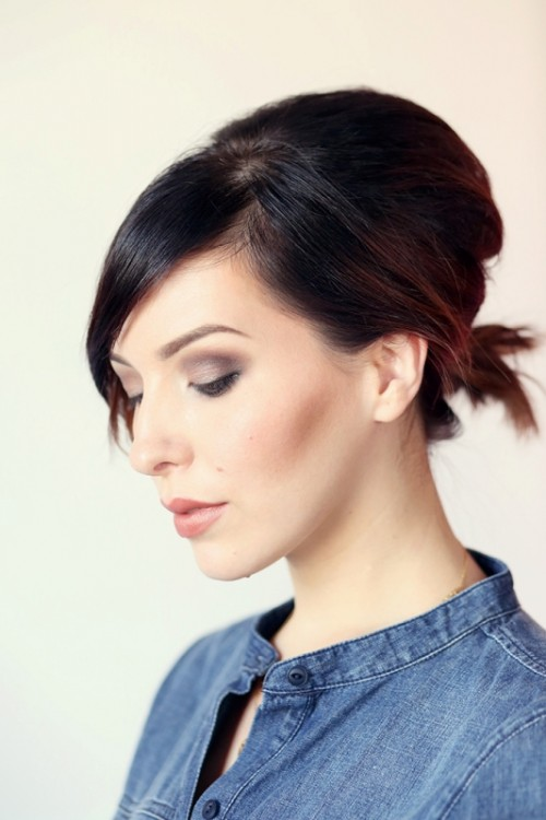 Gorgeous DIY Voluminized Ponytail For Short Hair