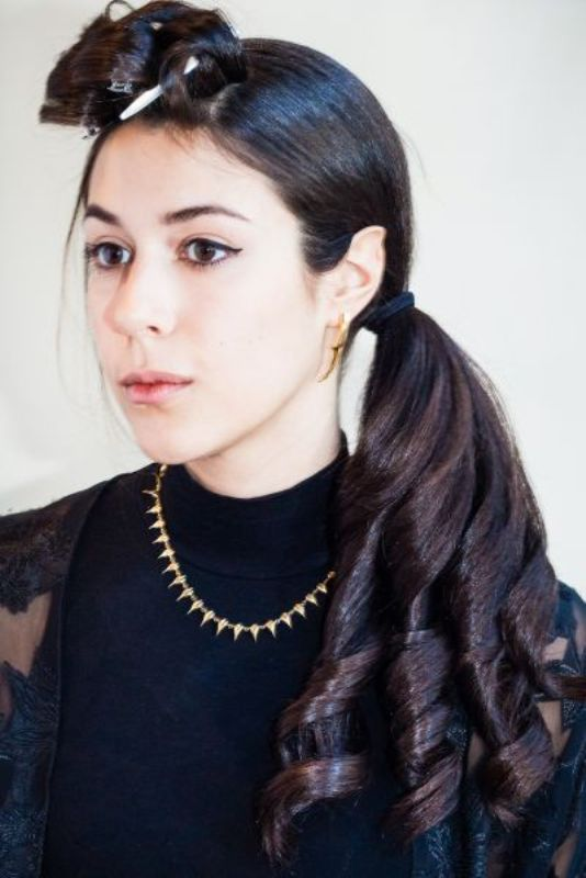 Picture Of gorgeous last minute diy christmas party updo sideswept pony  5