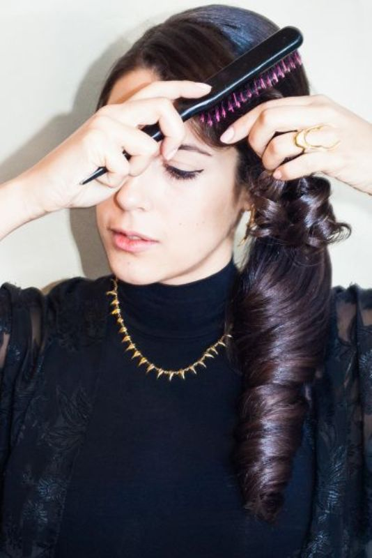 Picture Of gorgeous last minute diy christmas party updo sideswept pony  7