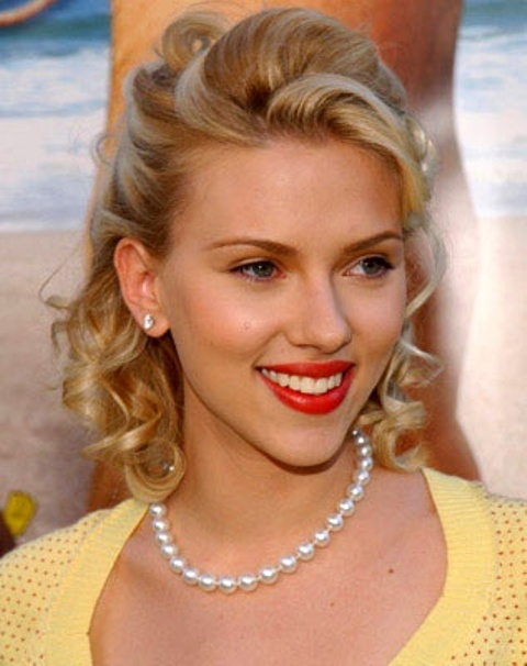 Picture Of gorgeous scarlett johansson retro hairstyles  19