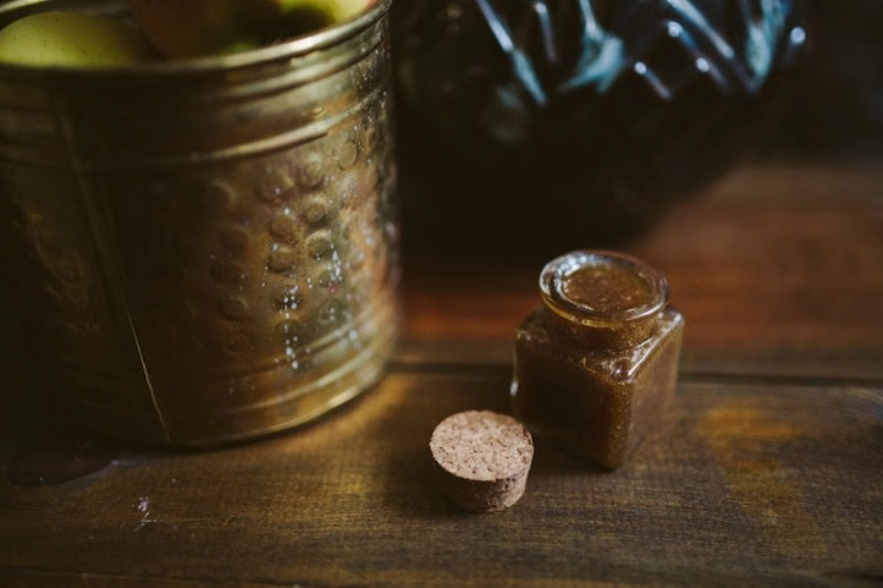 Picture Of great diy apple cinnamon face scrub  2