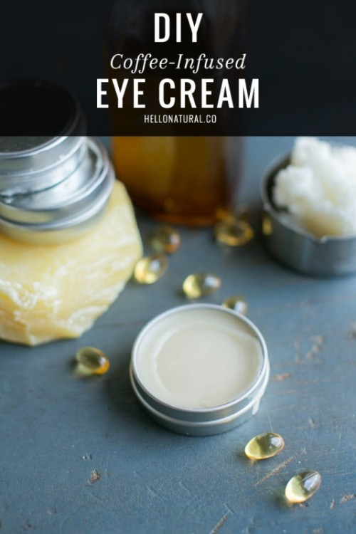 DIY Coffee-Infused Cream For Dark Under Eye Circles