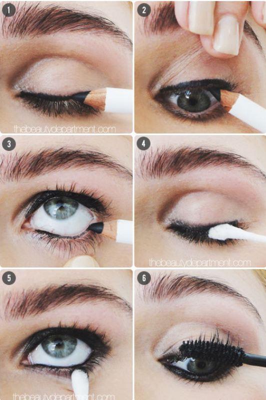 Grunge-Inspired DIY Lived-In Liner Makeup Look