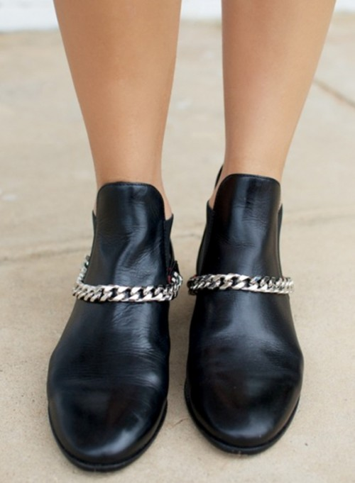 Grunge Styled DIY Chain Harness Boots