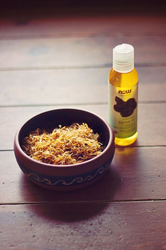 Picture Of healing diy calendula oil for face and body  2