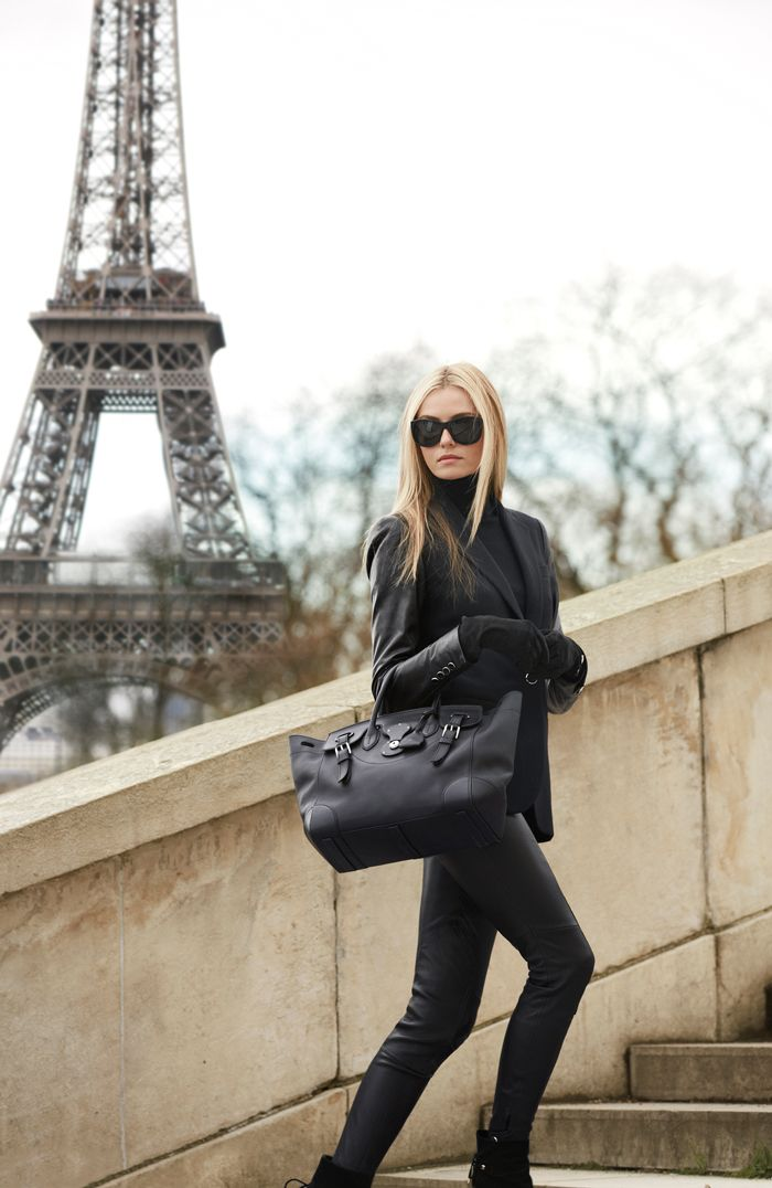 Picture Of hot total black looks for office  12