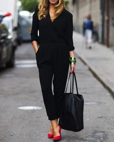 17 Hot Total Black Looks For Office