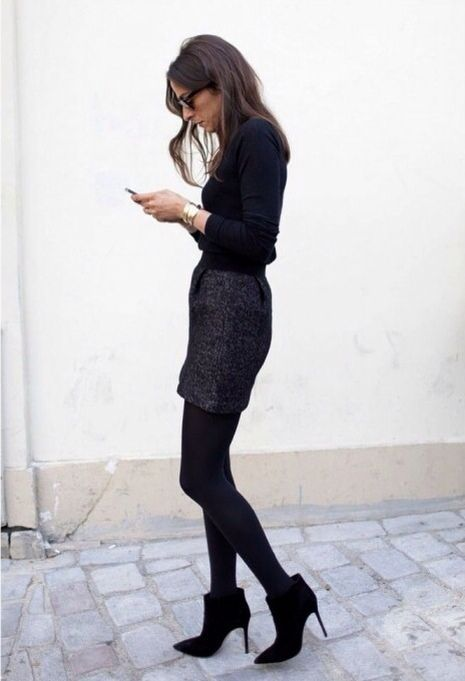 Hot Total Black Looks For Office