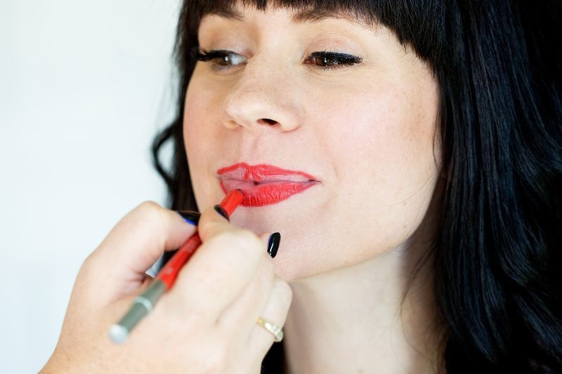 Picture Of how to apply lipstick and make it last all day  3