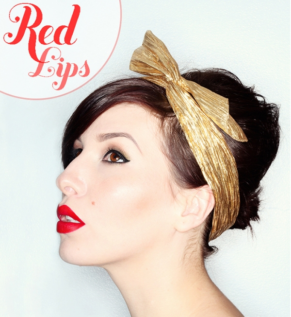 Picture Of how to get perfect red lips  1