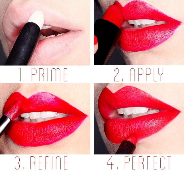 Picture Of how to get perfect red lips  2