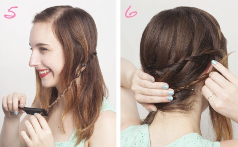 Picture Of how to make a waterfall braid on yourself  3