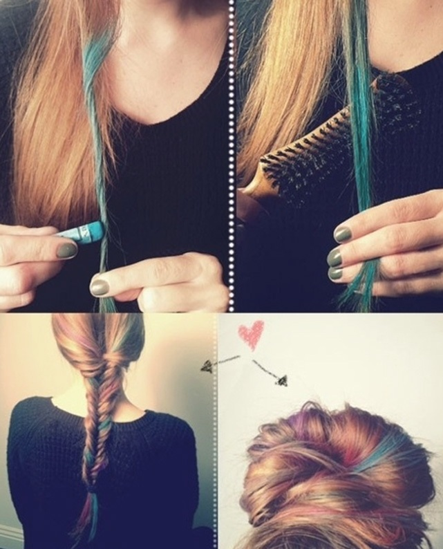 Picture Of how to make trendy pastel locks  2