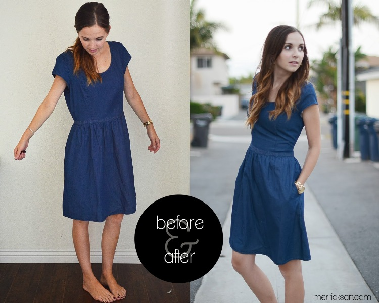 Picture Of how to resize an oversized dress easily  5