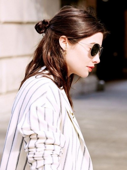 How To Rock A Perfect Half Top-Knot Hairstyle: 21 Cool Ideas