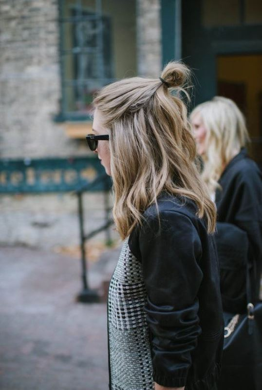 Picture Of how to rock a perfect half top knot hairstyle 21 cool ideas  12