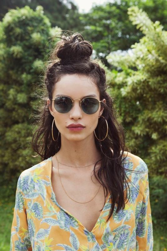 Picture Of how to rock a perfect half top knot hairstyle 21 cool ideas  16