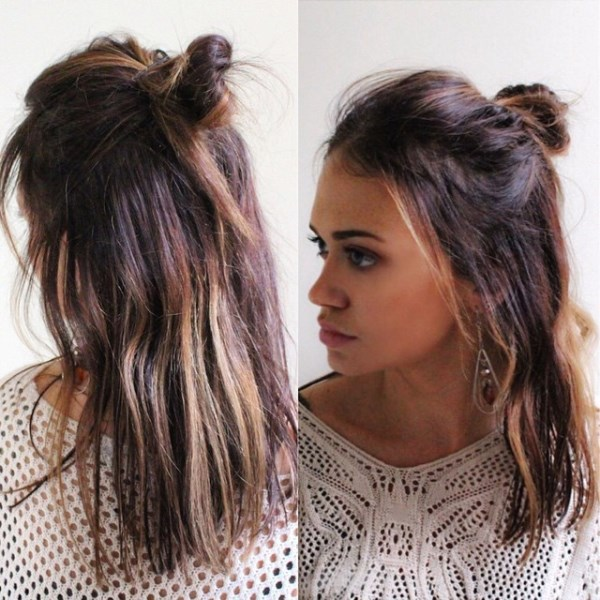 Picture Of how to rock a perfect half top knot hairstyle 21 cool ideas  4