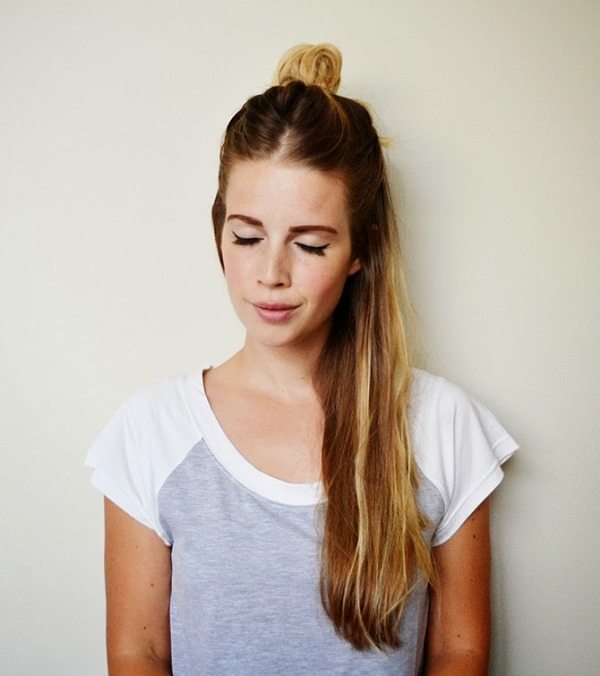 Picture Of how to rock a perfect half top knot hairstyle 21 cool ideas  6
