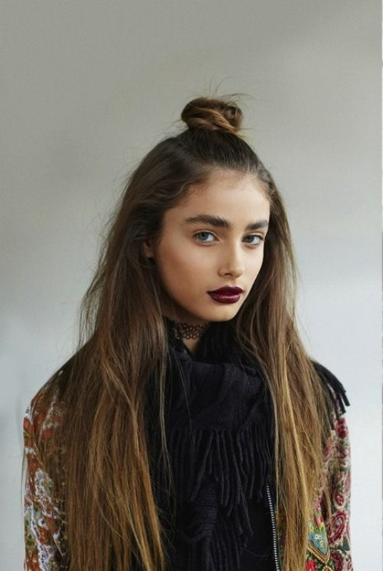 Picture Of how to rock a perfect half top knot hairstyle 21 cool ideas  8