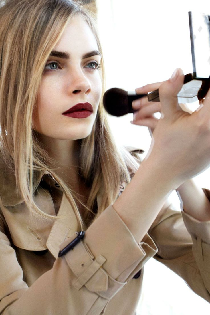 Picture Of how to rock marsala makeup examples  15