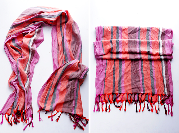 Picture Of how to turn a regular scarf into infinity scarf  2
